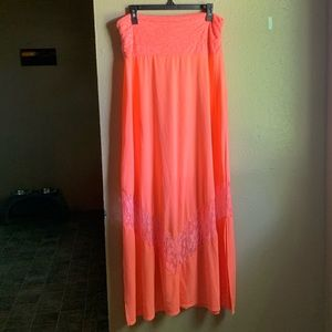 Vanity Neon Pink Maxi Skirt
